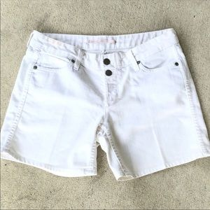 Vince White Jean Luce Button Front Shorts